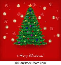 木。, illustration., 選択, ベクトル, クリスマス, 最も良く