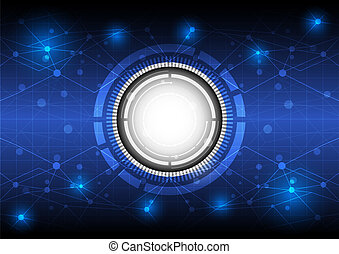 未來, 概念, 技術, 背景, 數字