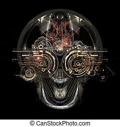 未來, cyborg, 臉