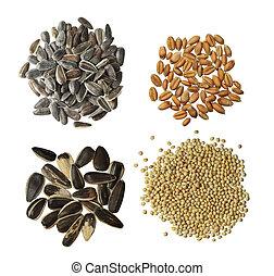 未加工, セット, 穀粒