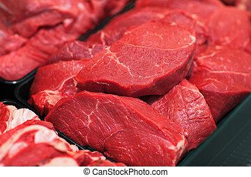 未加工, ハイパーマーケット, 肉
