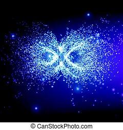 未来派, ∥あるいは∥, ビジネス, スペース, 印。, バックグラウンド。, 技術, cards10, ベクトル, 白熱, 無限点, 抽象的, style., 背景, プレゼンテーション, 贈り物, 爆発, particles., 優雅である