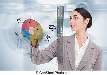 未来派, カラフルである, 女性実業家, インターフェイス, 使うこと