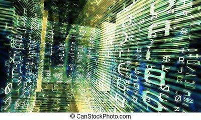 未来派, デジタルの技術, 画面表示, 10984