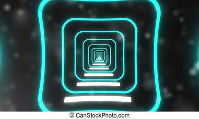 未来派, レンダリング, 発生させる, コンピュータ, 抽象的, light., 背景, 3d, ネオン, トンネル