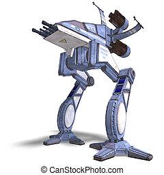 未来派, 変わる, scifi, ロボット, そして, 宇宙船
