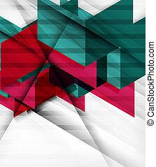 未来派, 幾何学的, ブロック, 抽象的, 背景