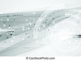 未来派, 抽象的, 灰色, 背景, hi-tech