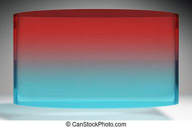 未来派, 液晶ディスプレイ, 赤, 青
