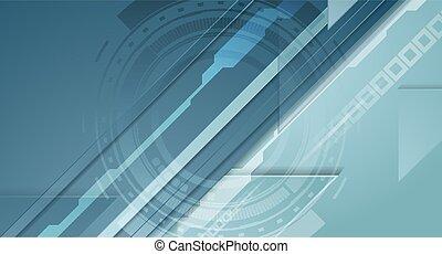 未来派, 背景, 技術, ベクトル, 青, 抽象的