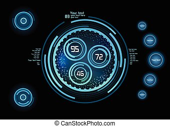 未来派, 青, infographics