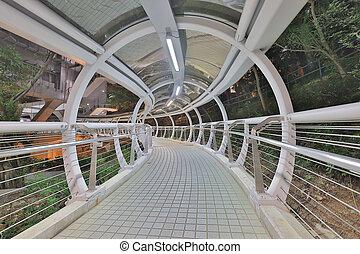 未来派, sidewalk., architecture., トンネル, 引っ越し