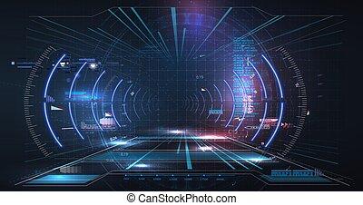 未来, やあ、こんにちは, vr, ディスプレイ, design., 事実上, technology., reality., サイエンスフィクション, 技術, head-up, helmet., 未来派