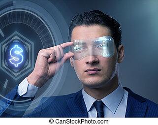 未来, 取引, ビジネスマン, 通貨