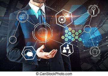 未来, 概念, 技術, 金融
