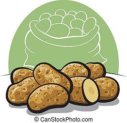 未經加工的土豆