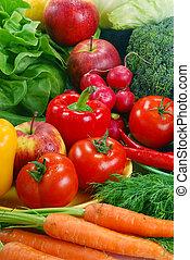 未經加工的蔬菜, 品種