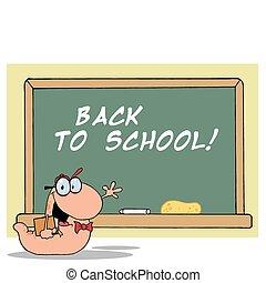 本の虫, によって, a, 学校に戻って