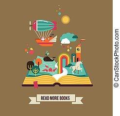 本を 開けなさい, ∥で∥, おとぎ話, 要素, そして, アイコン
