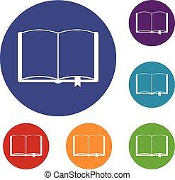 本を 開けなさい, ∥で∥, しおり, アイコン, セット