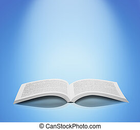 本を 開けなさい, 柔らかい, 隔離された, 背景