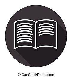 本を 開けなさい, 黒, 網, アイコン