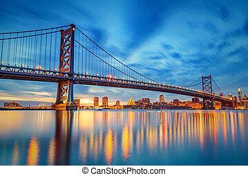 本富蘭克林橋, 在, 費城