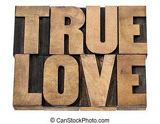 本当, タイプ, 木, 愛