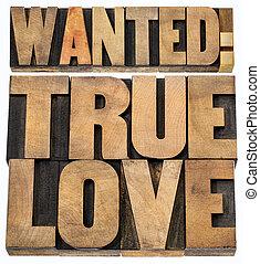 本当, 木, 愛, 望まれる, タイプ