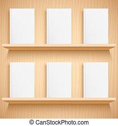 本棚, 本, カバー, ブランク