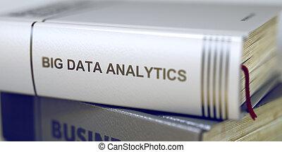 本, タイトル, の, 大きい, データ, analytics., 3d.