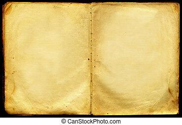 本, ブランク, ぼろぼろ, 大きい, 古い, pages.