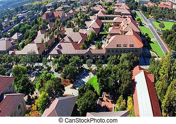本, 光景, 建築, 中に, スタンフォード大学