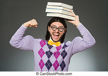 本, 勉強, 概念, 若い, 学生