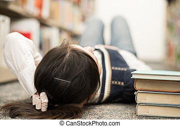 本, 卵を生む, 学生, 床