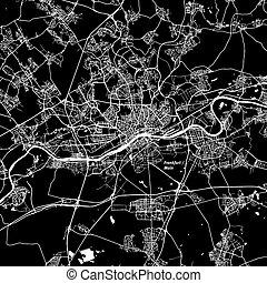 本, 地図, ベクトル, frankfurt, 区域