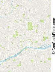 本, 地図, ベクトル, frankfurt, 有色人種