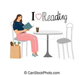 本, 女の子の読書