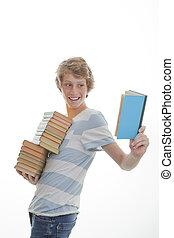 本, 学生, libary
