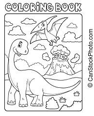本, 恐竜, イメージ, 8, 着色, 主題