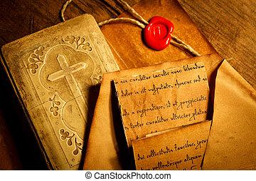 本, 手紙, 古い, 古代, 祈とう
