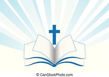 本, 聖書, 交差点, 宗教, シンボル, ロゴ