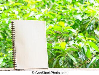 本, 背景, ブランク, 木製である, 自然