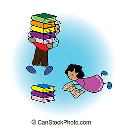 本, 読書, 子供
