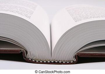 本, 開いた, のように