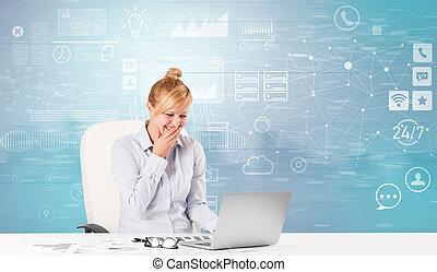 机の仕事, 前部, 概念, ワークフロー