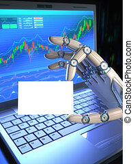 机器人, 从事贸易, 系统, /, 名片