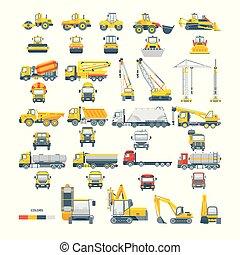 机器, 矢量, 放置, 机械, 沥青