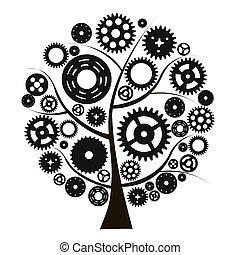 机器, 轮子, cogwheel, 矢量, 齿轮