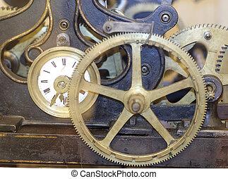 机械, 老, 細節, 鐘